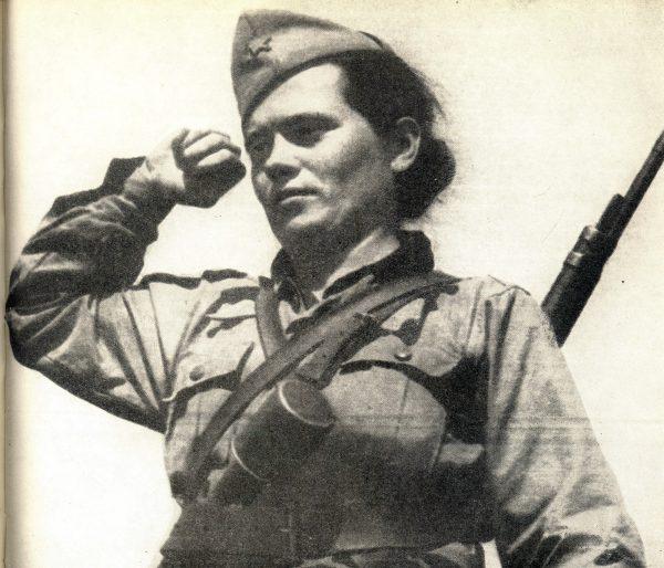 Jugoslawische Partisanin Savka Javorina